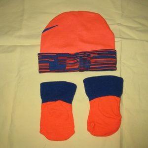 Nike Babies Cap and Socks/Gators Orange & Blue
